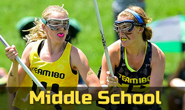 Middle school girls' lacrosse